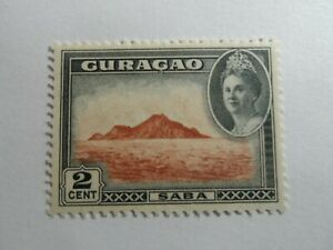 Discount Stamps : NETHERLANDS ANTILLES CURACAO 1943 2c VIEW OF SABA MOUNTAIN