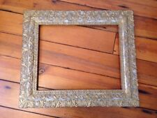 Antique Vtg Gold Gilt Ornate Gesso Carved Frame Rococo Victorian Wooden 27x23