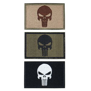 IDOGEAR Skull Morale Patch Tactical Patch Airsoft Gear Paintball Duty Hunting