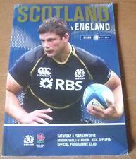2012 - Scotland v England, Six Nations Match Programme.