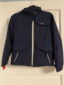 KJUS Junior Line Ski Coat Unisex Navy Blue Size 152  boys or girls size 12