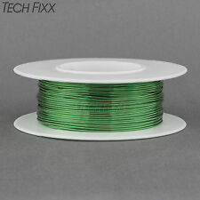 Magnet Wire 22 Gauge AWG Enameled Copper 63 Feet Coil Winding and Crafts Green