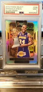 2016 Select Shaquille O'Neal Silver Courtside Prizm - PSA 9 MINT