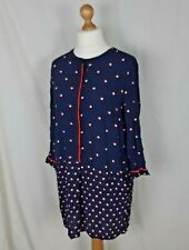 Joules Navy Blue Spot Tunic Top Size 14  Arvia