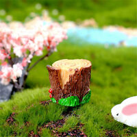 Stump stool Resin Miniature Figurine Garden Dollhouse Decor Micro Landscape BDA
