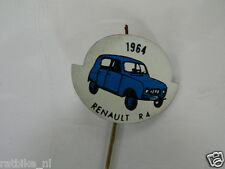 PINS,SPELDJES JAREN 1964 BLUE CLASSIC CARS RENAULT R4 VINTAGE VERY OLD