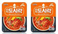 Korean Instant Noodle PALDO KIMCHI DOSIRAC 2pack Cup Ramen Ramyun