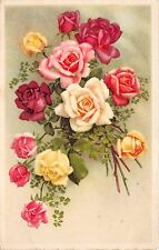 B2206 Fleurs Flowers Beautiful Roses front/back scan