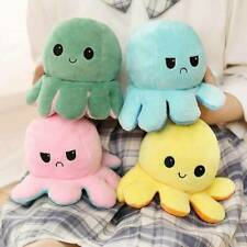 Double-Sided Flip Reversible Octopus Plush Toy Squid Stuffed Doll Toys dskf