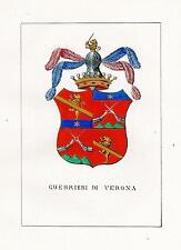 Araldica stemma araldico della famiglia Guerrieri di Verona