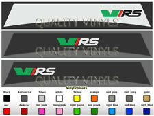SKODA VRS FABIA OCTAVIA WINDSCREEN GRAPHIC SUNSTRIP DECAL STICKERS SU27