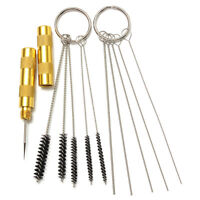 11pcs Airbrush Spray Cleaning Repair Tool Kit Stainless steel Needle Brush Set