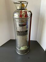 Vintage Chrome Fire Extinguisher Chrome Label Kidde Bloomfield NJ Empty