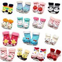 0-12 Months Baby Funny Cute 3D  Anti Slip warm Socks indoor shoes SPIRIUS UK