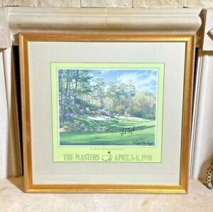 Fred Couples Linda Hartough Signed Autographed 13th Hole Augusta Masters Art