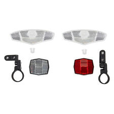 SunLite 4-Way Deluxe Reflector Set Bike Reflectors with Brackets