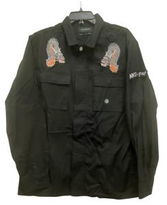 PacSun Long Sleeve Size XL Dragon Anti-You Full Zipper Jacket Boxy Fit NWT