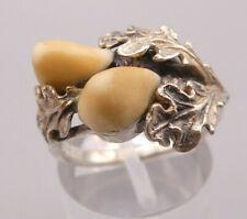 Außergewöhnlich seltener wunderbar gehaltener Ring Silber Tracht Blätter Grandl