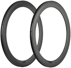 700C Carbon Fiber Rims 60mm Depth 25mm Width U Shape 18/20/21/24/28 Rims 2 Pcs