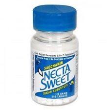 Necta Sweet Saccharin Sugar Substitute 0.5 Grain Tablets 500 ea (Pack of 4)