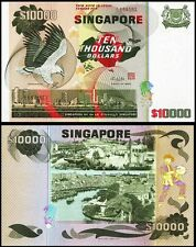 !COPY! SINGAPORE 10000$ 10,000$ DOLLARS BANKNOTE !NOT REAL!