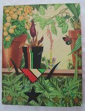 Vintage Postmodern Painting 1980 Bricolage Tropical RB 80 Signature RB 80