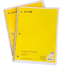 2 Pcs Lot Spiral Notebook Wide Ruled One Subject Note Pad School Supplies