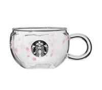 Starbucks Japan Spring Sakura Heat Resistant Glass Mug Sakura Shape 10oz 2020