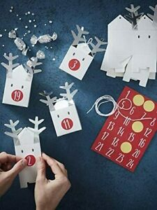 Silver Reindeer Personalised Advent Calendar Boxes for Christmas 10 Pack