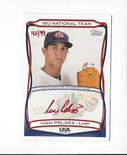 2010 USA Baseball Ivan Pelaez Rookie Red AUTOGRAPH 45/99