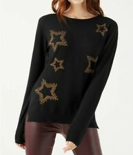 NEW Society 8 Star Jumper Christmas Knitwear Black Size 8 RRP £26