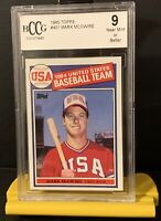1985 Topps USA Baseball Mark McGwire Rookie #401 Grade BCCG 9 Benefits Charity❤️