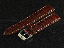 TechnoMarine Shiny Brown Lousiana Hand Made Gator Strap W/ Buckle 17mm