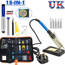 Adjustable Temperature 60W Soldering Iron Kit Electronics Welding Irons Tool