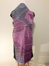 Prima Vera Collection 100% Silk Purple Geometric Scarf Japan New without Tags