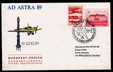 "Sonderflug AD ASTRA`89 ""Budapest - Zürich"" 16.10.1989 !!"