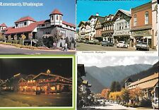 4 UNPOSTED POSTCARDS LEAVENWORTH WASHINGTON ALL AMERICAN CITY Moettler Building