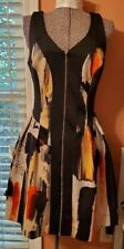 Mossimo Woman's Abstract Design Sleeveless Zip Up Front Dress Size Small P