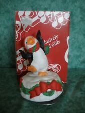 "San Francisco Music Box~1994~""Let It Snow""~Dancing Penguin,Snowflake~Adorabl e!"