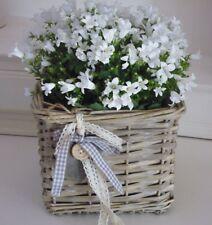 Korb mit Herz,  Basket, Blumenkorb, Übertopf Weide, Shabby, Landhaus,Cottage