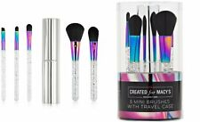 Macys Beauty 5 Mini Sparkle and Shine Galactic Makeup Brushes with Travel Case.