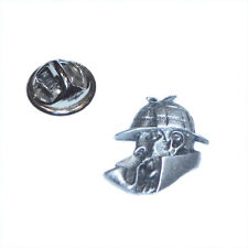 Sherlock Holmes LAPEL PIN Mystery Club Group Hat Cap Badge Present GIFT BOX