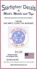 Starfighter Decals 1/700 U.S.S. NIMITZ CLASS AIRCRAFT CARRIER MARKINGS