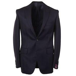 Sartoria Partenopea Slim-Fit Navy Herringbone Soft Wool Sport Coat 44R