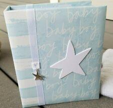 Sweet Blue White Star Baby Boy Photo Album Newborn Infant Boy Holds 100 Photos