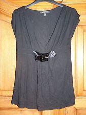JENNYFER Tunique sangle noire M 38 t-shirt haut top blouse