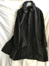 SILENT by DAMIR DOMA UNISEX BLACK LOOSE FIT PARKA SIZE M