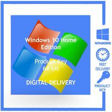 Win 10 Home ~ Activation Key - Genuine Product Code - 64-bit