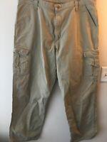 Wrangler Men`s work pants denim khaki size 40x32 carpenter