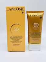 LANCOME Soleil Bronzer Smoothing Protective Cream Face SPF50 1.69oz NEW